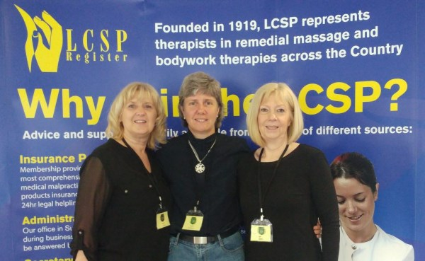 Julie Nicholls with Sissel company staff at LCSP centenery conference